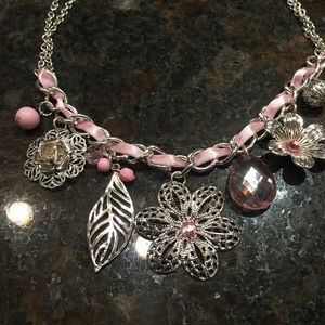 Pretty Necklace with pink accents